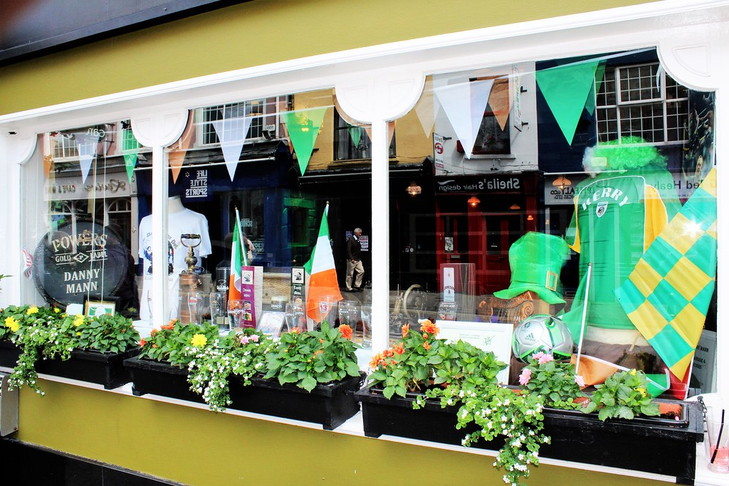 Pub window, Killarney, Ireland