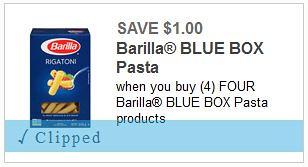 Barilla Blue Box Pasta Coupon