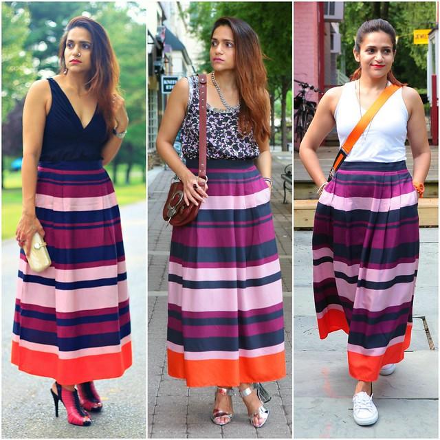11_Three Ways To Style A Striped Midi Skirt Tanvii.com