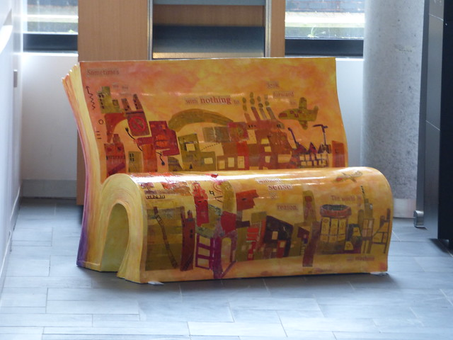 The Big Read 2016 book bench trail - Library of Birmingham - The Red Book