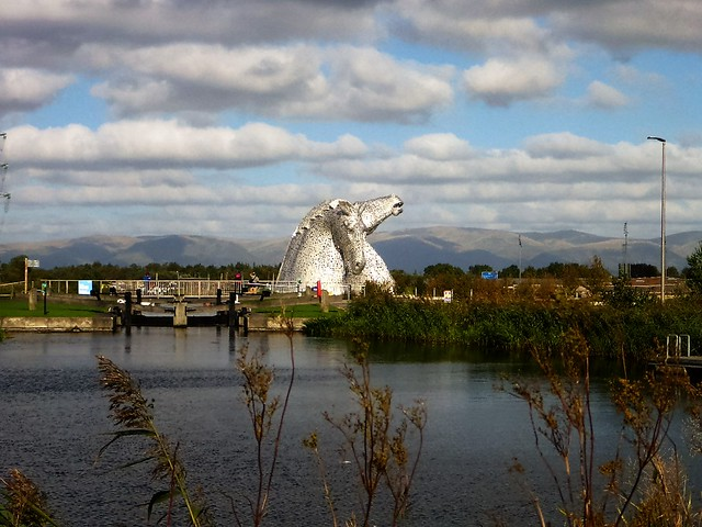 Kelpies and Forth & Clyde Canal, Scotland