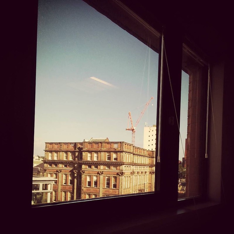 View from my new desk position #leeds