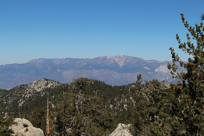 San Gorgonio Mountain Range and the Nine Peaks from the Deer Springs Trail, with Fuller Ridge in the foreground