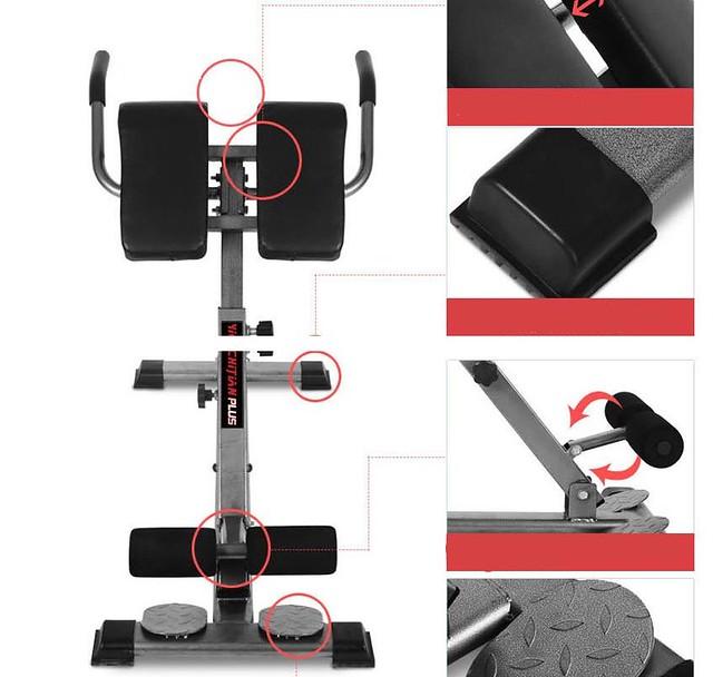 pro fitness zuhause workout roman stuhl hyperextension zur ck verl ngerung bench ebay. Black Bedroom Furniture Sets. Home Design Ideas