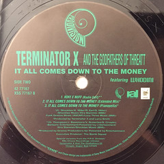 TERMINATOR X AND THE GODFATHERS OF THE THREATT:IT ALL COMES DOWN TO THE MONEY(LABEL SIDE-B)