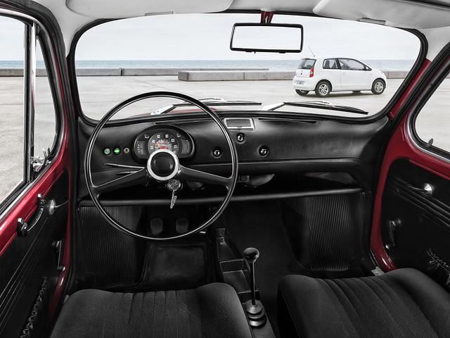 Интерьер SEAT 600 L Especial. 1972 – 1973 годы