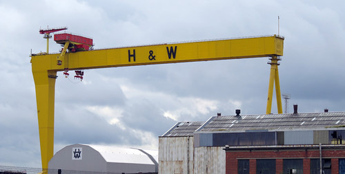 The iconic yellow H & W crane on Belfast's Marine Trail