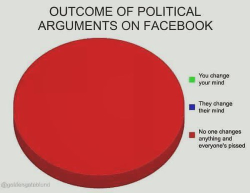 Political Arguments on Facebook