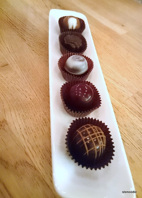 Chocolate truffles at 0109 Dessert & Chocolate