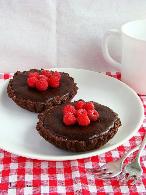 тарталетки шоколадные с малиной 1