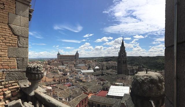 Panorámica desde la Iglesia de los Jesuitas en Toledo (San Ildefonso)