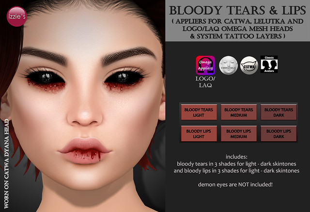 Bloody Tears & Lips (Halloween Limited Time Gift)