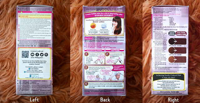 Patty Villegas - The Lifestyle Wanderer - DIY Bubble Hair Color - Japan Beauty Product - Beauty Review - Liese Bubble Hair Color - Sides of Box
