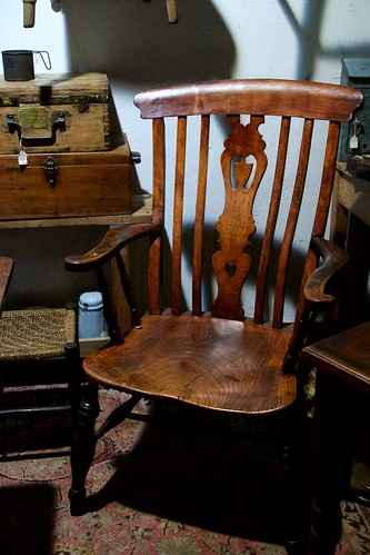 large lath back windsor arm chair with splat