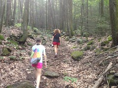 Kathryn and Sophie on the Dockery Lake Trail Again