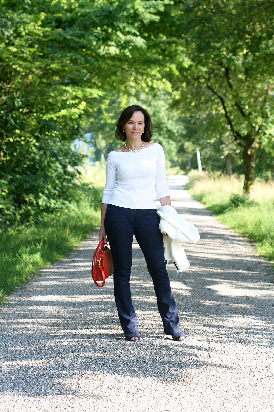 Styling a basic white top and denim: Marks & Spencer challenge - Annette, Lady of Style