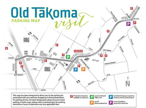 Old Takoma parking map
