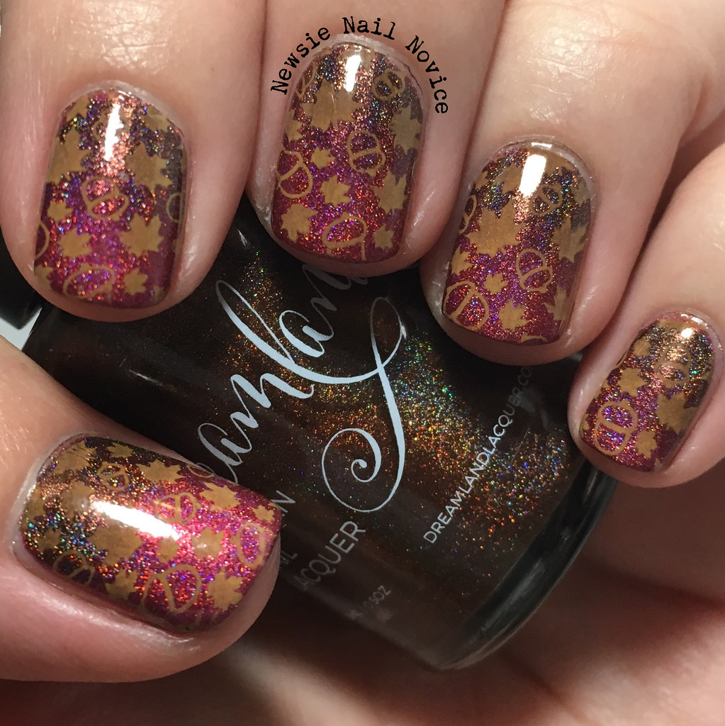 Dreamland Lacquer Fall Nail Art | Newsie Nail Novice