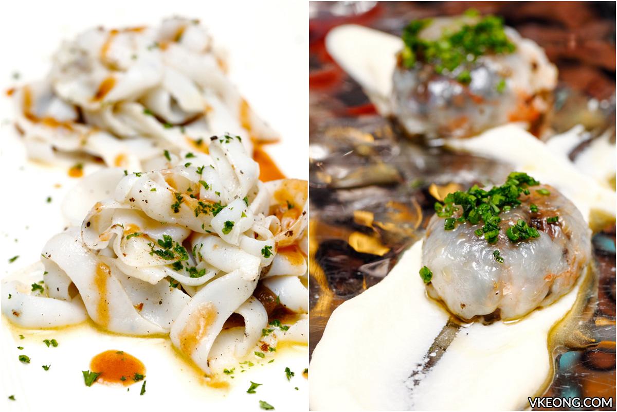 Grilled Cuttlefish Mushroom Ravioli