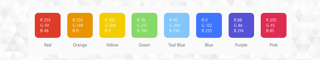 Paleta de colores de iOS