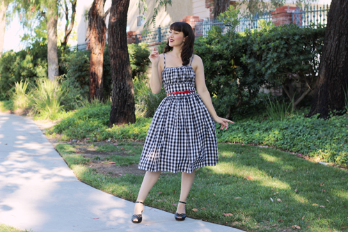Hearts and Found Grace Dress Black Jack in Black Checkered Gingham Print