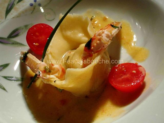 Ravioli de Langoustines aux Herbes Fraîches © Ana Luthi 013