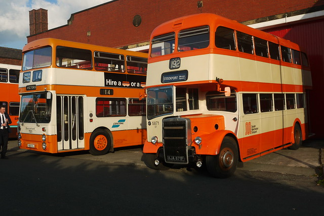Leyland Atlantean 7001 and Leyland PD3/14, Greater Manchester Museum of Transport