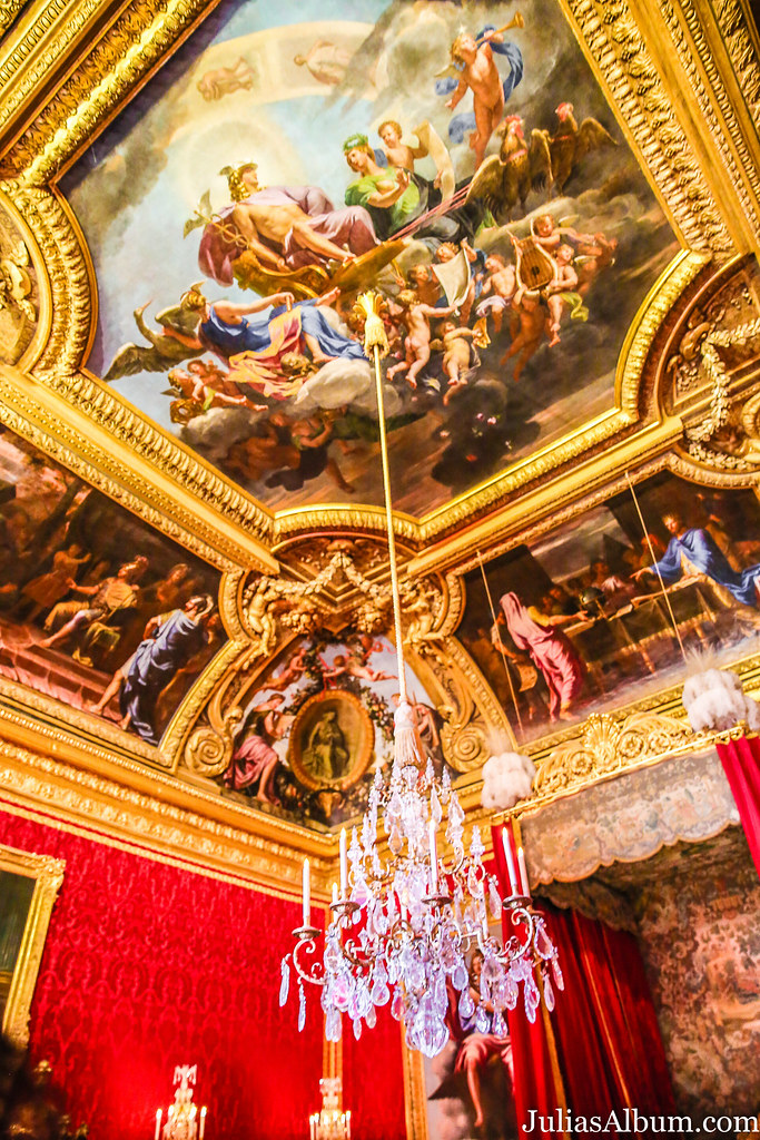 the ceiling of the Palace of Versailles