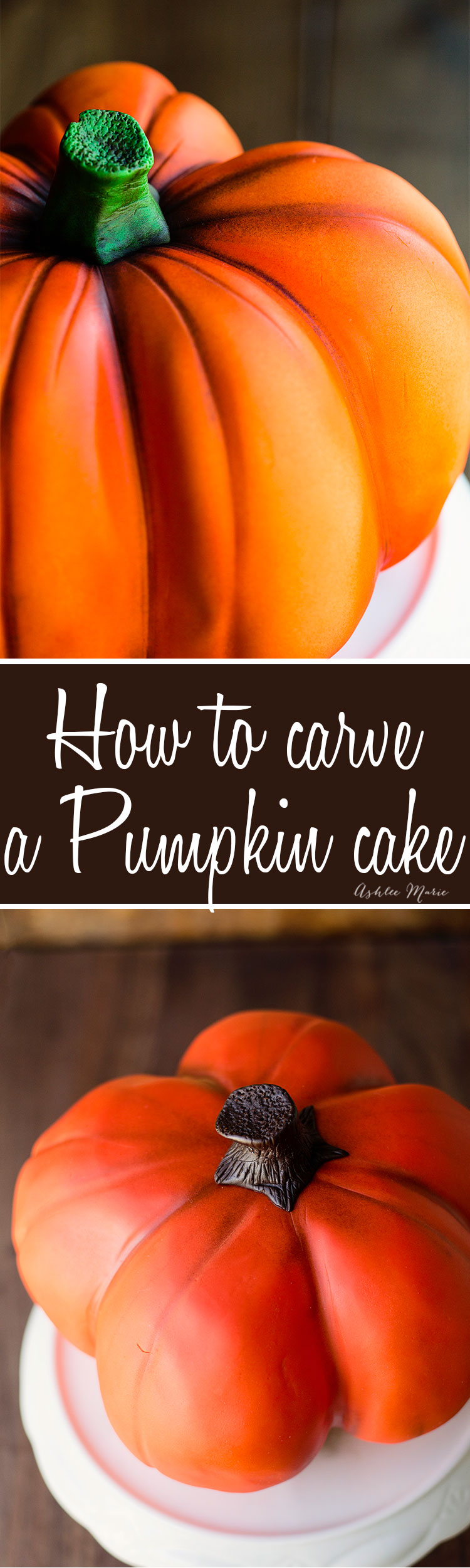 how to carve and airbrush a realistic looking pumpkin cake