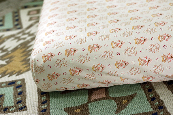 Crib sheets in the new sewing room!