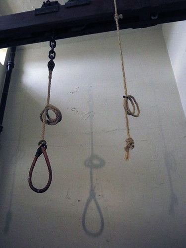 The hanging noose in the Crumlin St. Gaol (Jail) in Belfast, Ireland