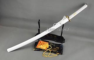 Handmade-japanese-samurai-katana-sword-white-gold