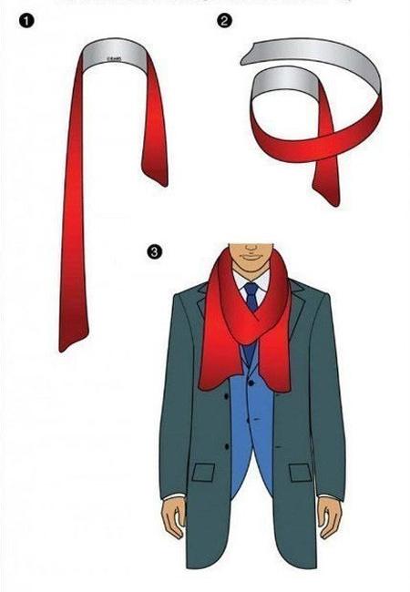 Стильные идеи для мужчин: как красиво завязать шарф - ПоЗиТиФфЧиК - сайт позитивного настроения!