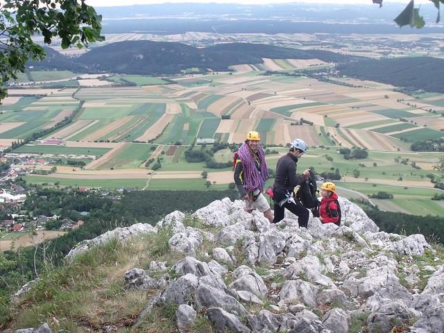 Hohe Wand Vier Dörfer Steig és Neue Turnerbergsteigerkante(7+) Draschgrat