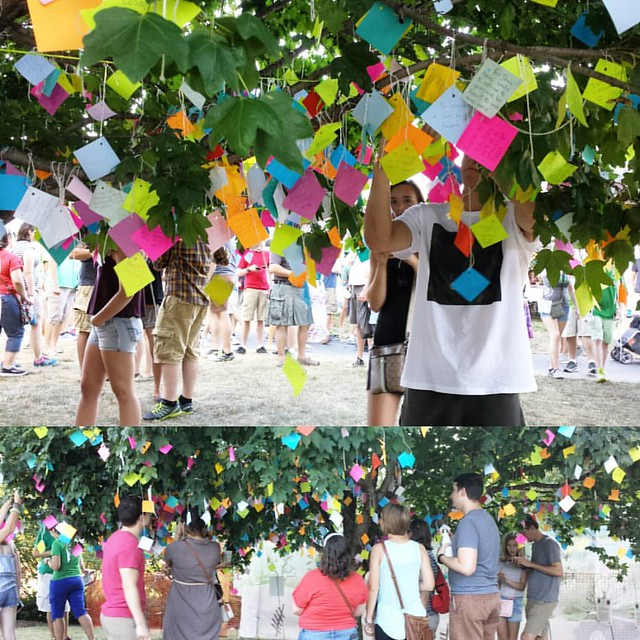 The Wishing Tree is one of the most sobering, joyful and emotional exhibits that you will ever experience at the Dublin Irish Festival in Dublin, OH. @dublinirishfestival #beinghuman #weallwantlove