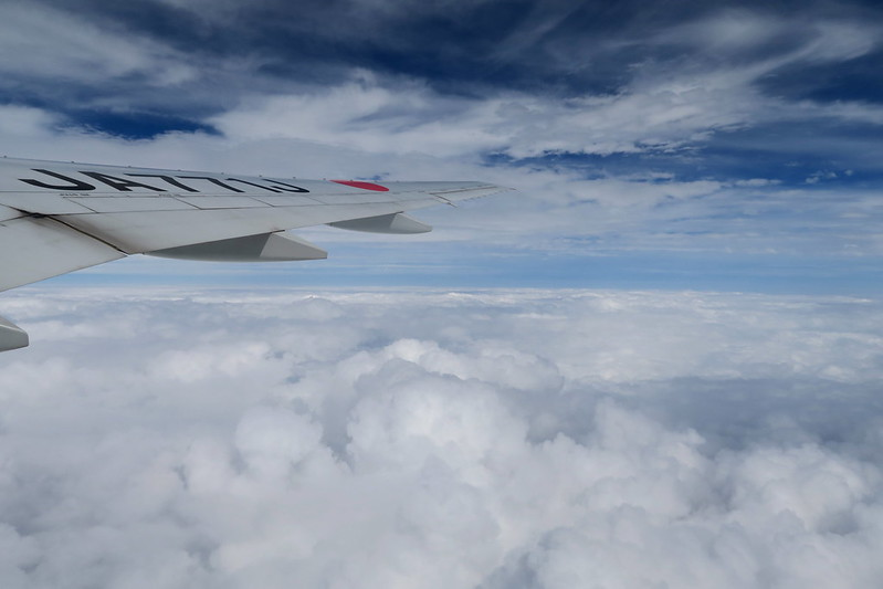 空の窓から〜台風の道筋〜久留米へ〜九州旅行1