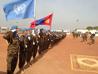 Mongolian peacekeepers in South Sudan