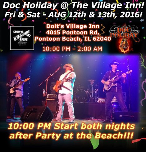 Doc Holiday 8-12, 8-13-16