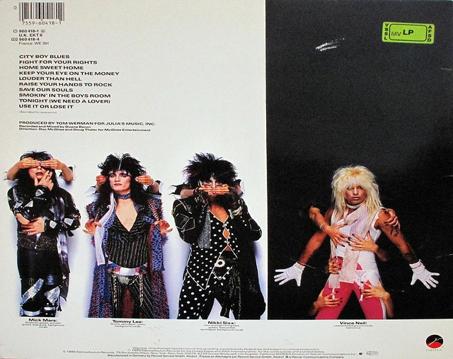 "MOTLEY CRUE - THEATRE OF PAIN GERMANY 12"" LP"