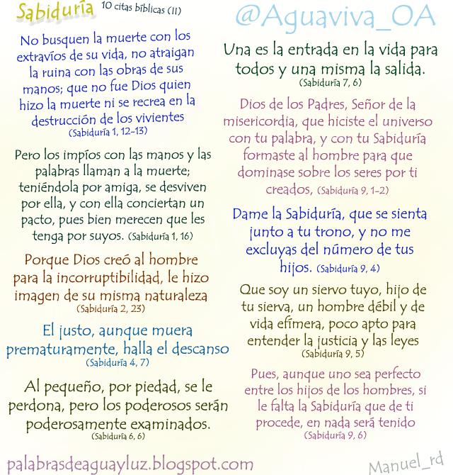 10 citas del libro de la Sabiduría (II)
