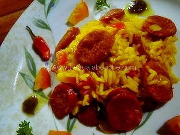 Riz au Chorizo © Ana Luthi Tous droits réservés