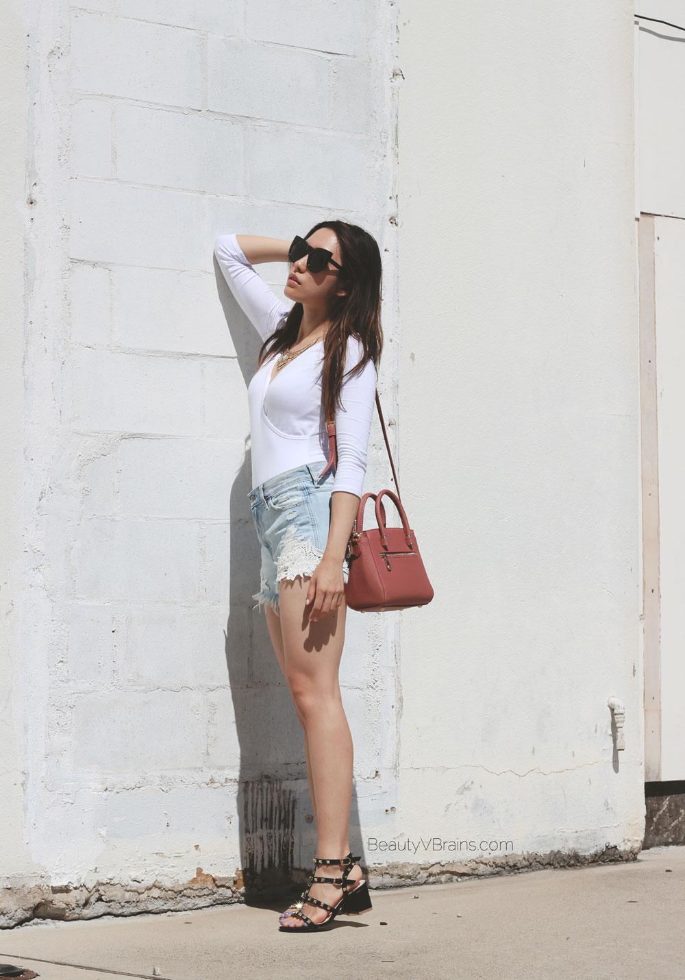 High waist Hollister lace trim shorts