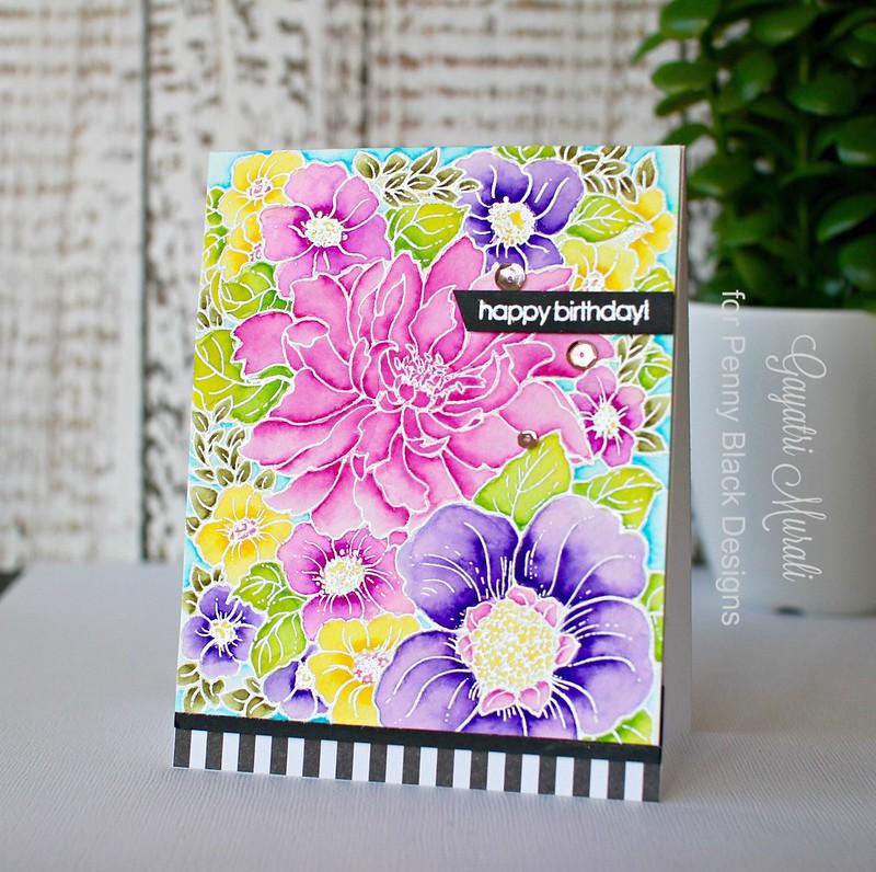 Pretty Floral card1