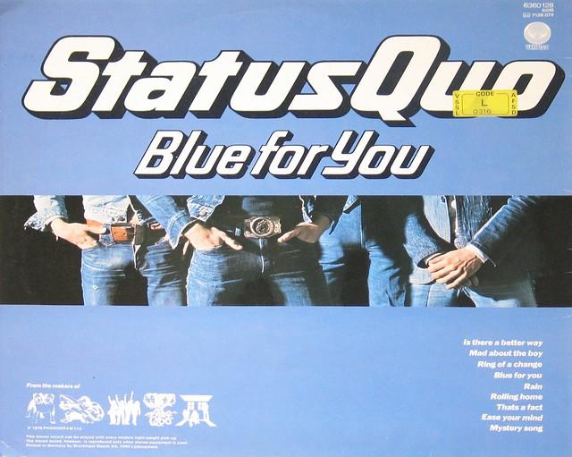 """Status Quo Blue For You 12"""" vinyl LP"""