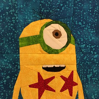 "Norbert Minion 12"" paper pieced quilt block"
