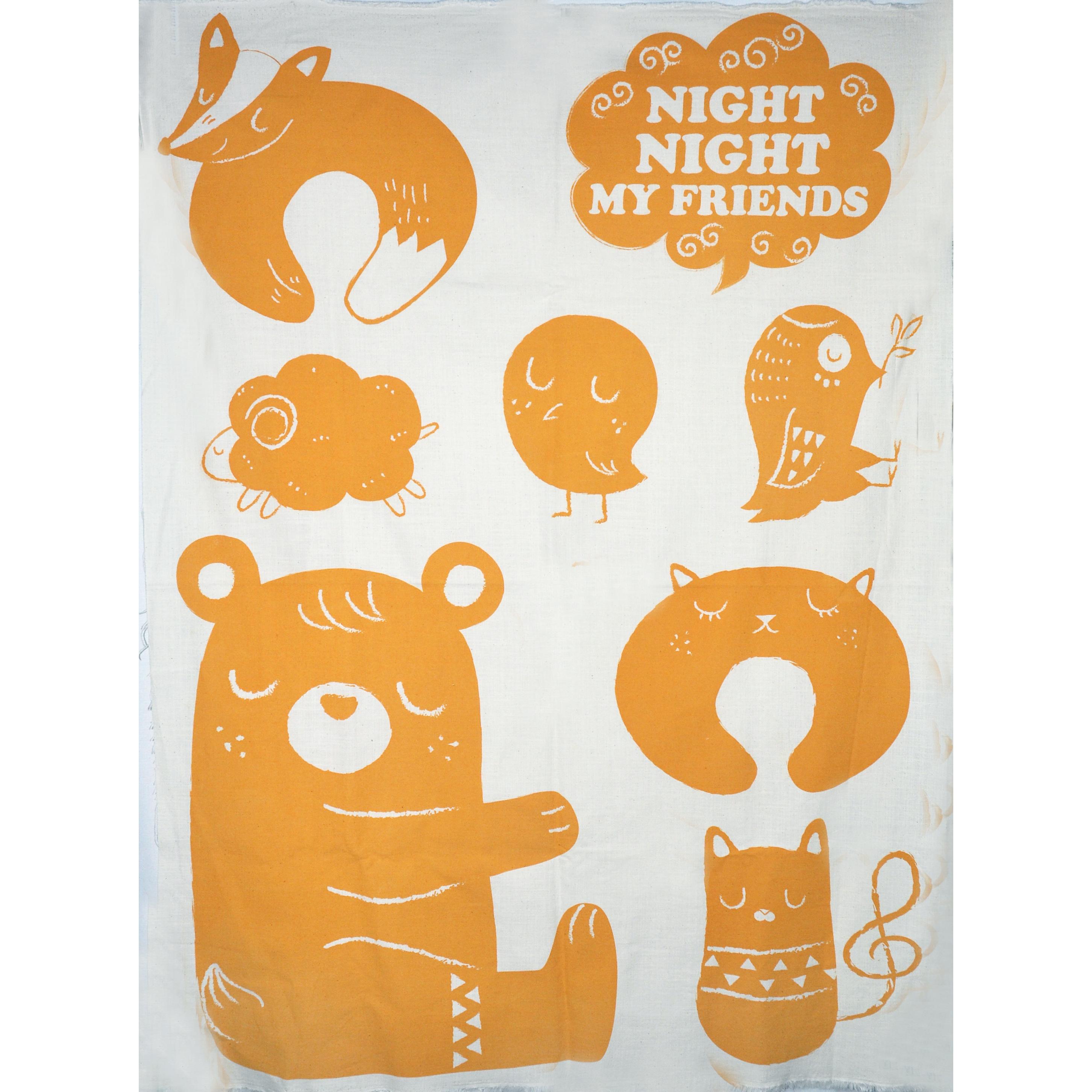 晚安好夢定位圖(2.8尺一圖) 午安枕 頸枕 布玩偶 手工藝DIy拼布布料 CF1800002