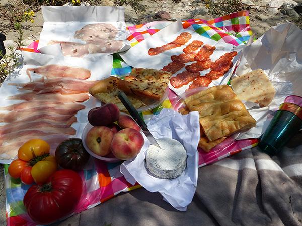 pique-nique italien dans l'Estéron