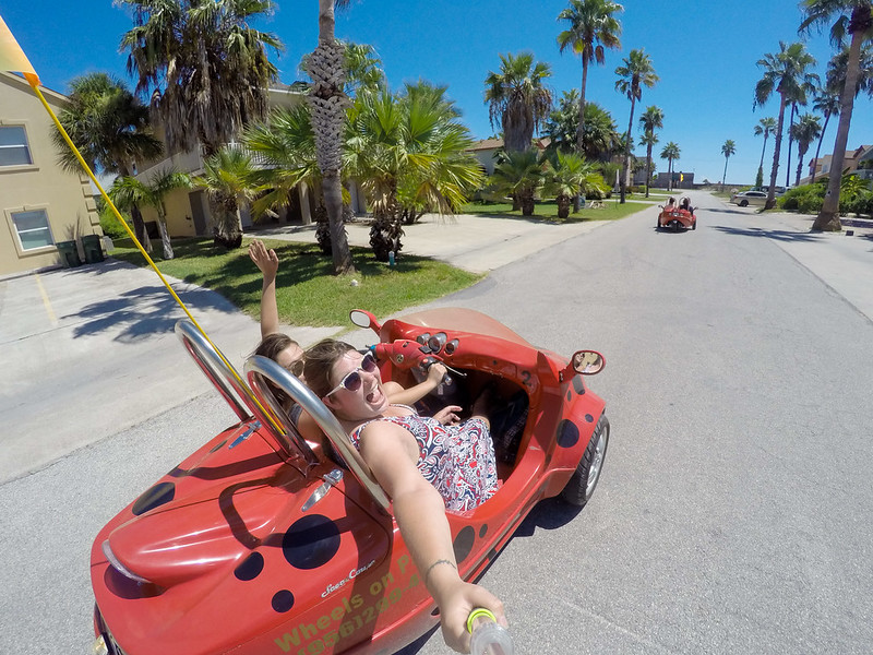 Driving a scootcoupe around South Padre Island
