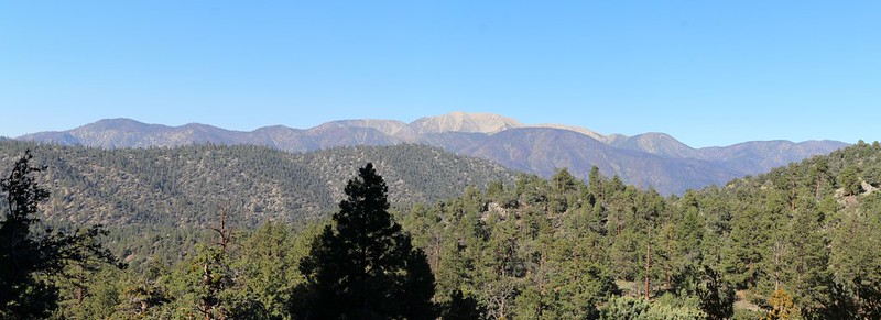 View of the San Gorgonio Mountain Range, with Ten Thousand Foot Ridge extending to the left