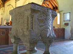Shernborne font: north-west corner